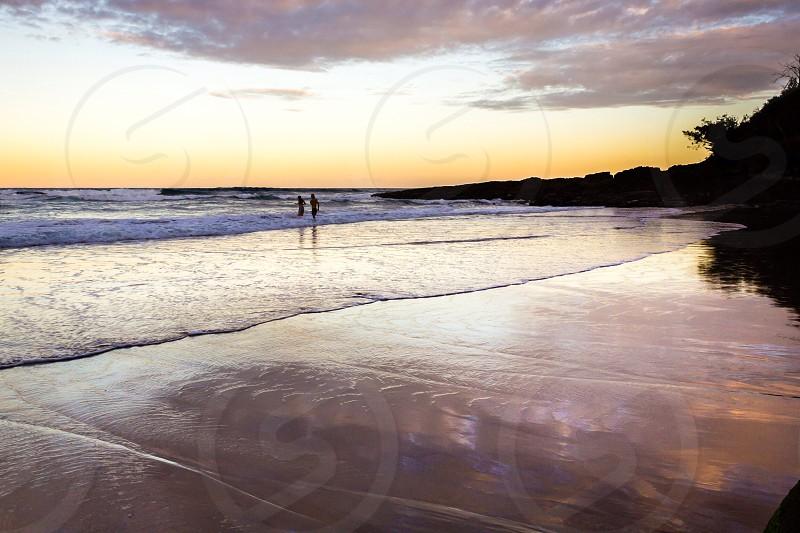 Summer love beach romance sand tropical deserted photo