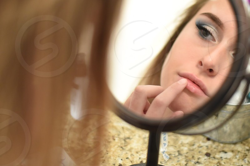 Facial care lifestyle reflection  photo