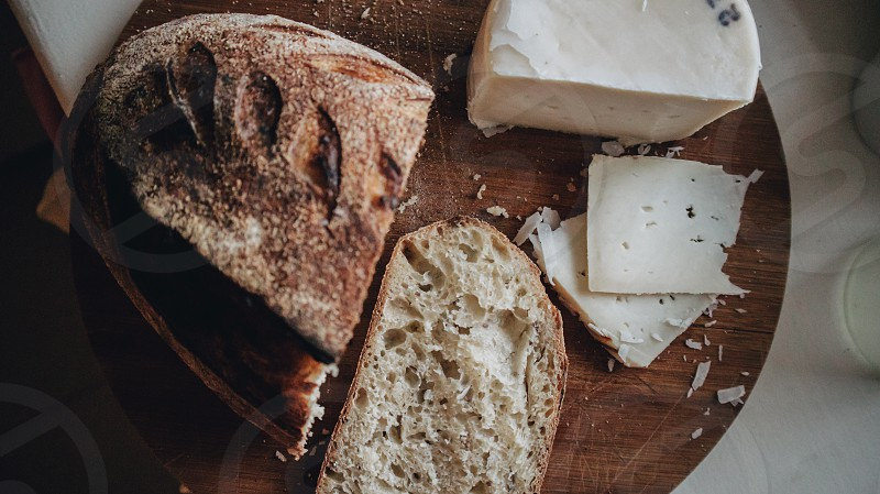 homemade bread and cheese photo