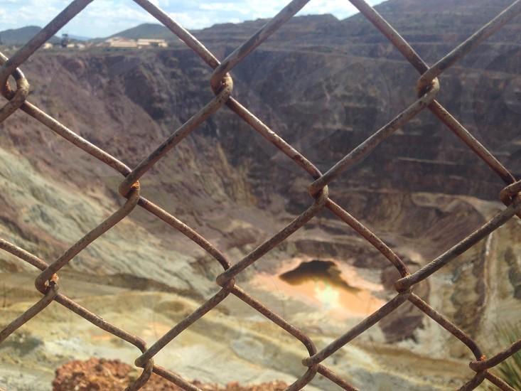Sightseeing mine tourist  photo