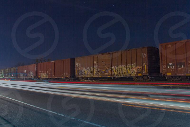 brown running train photo