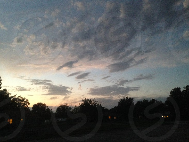 Sky Clouds Trees photo