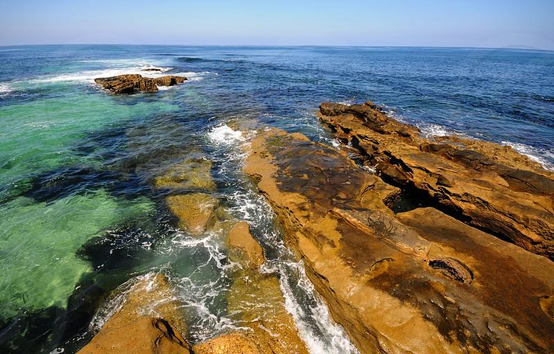 The beautiful ocean at La Jolla Cove in San Diego California photo