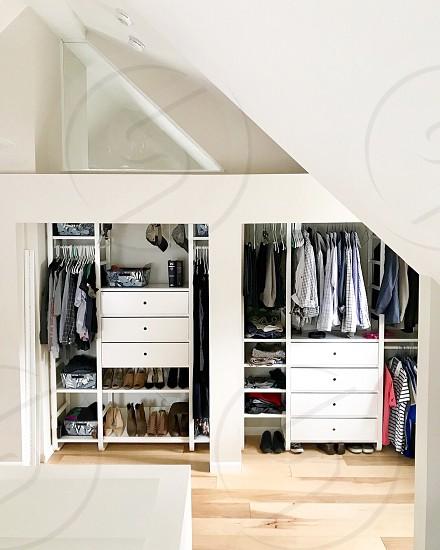 Modular closet system photo
