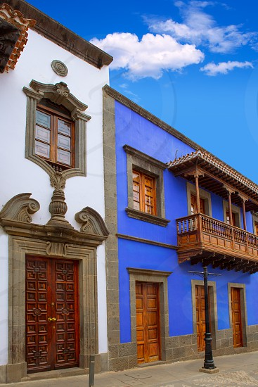 Gran Canaria Teror colorful facades in Canary islands photo