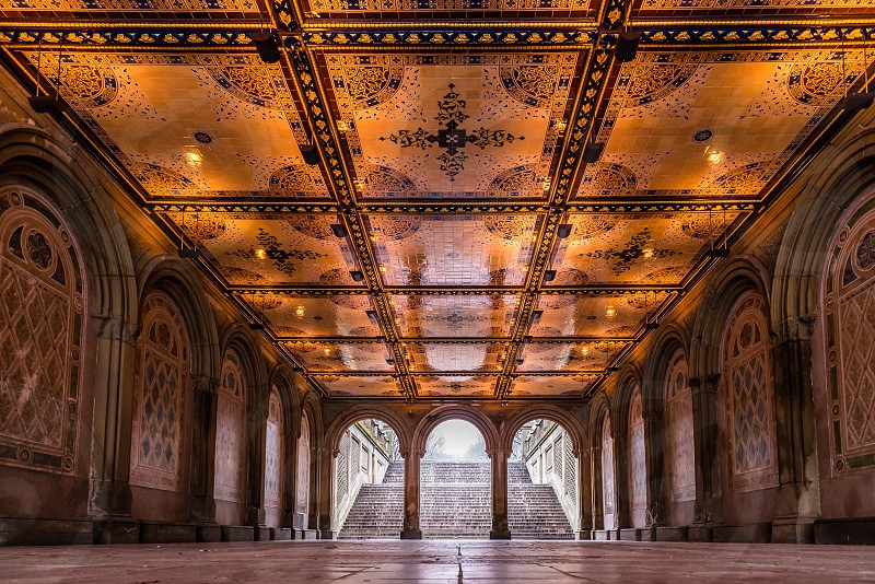 Bethesda Terrace at Central Park photo