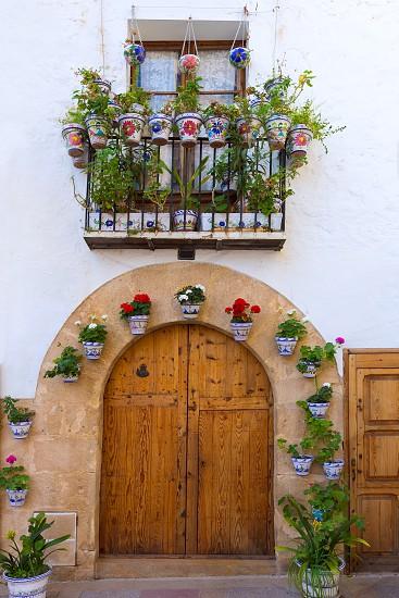 Javea Xabia old town Mediterranean streets in Alicante Spain photo