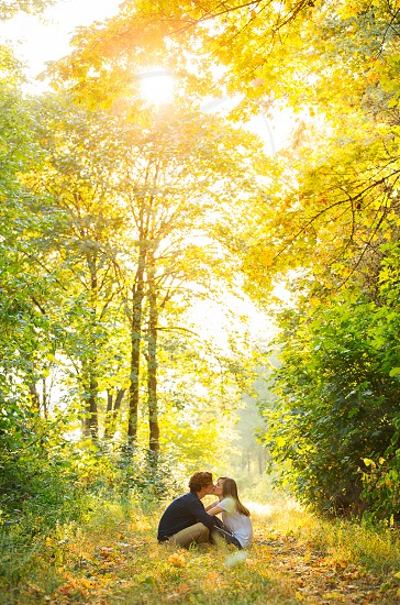 Matt and Whitney. An Oregon stroll through the colors of early fall.  photo