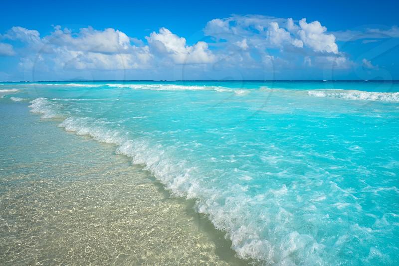 Caribbean turquoise beach in Riviera Maya of Mayan Mexico photo