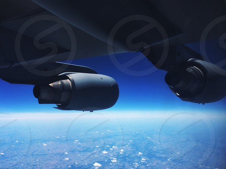 C-17 over the Pacific. photo