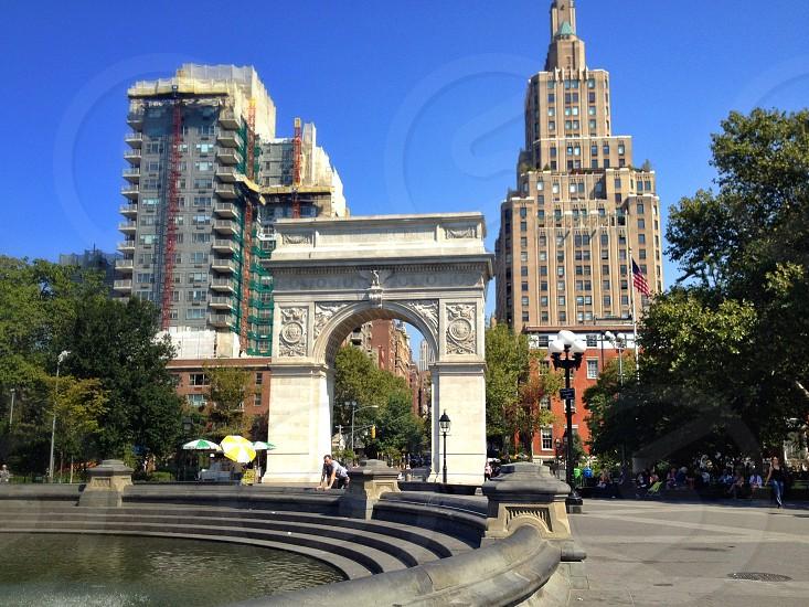 Washington square park NYU.  photo