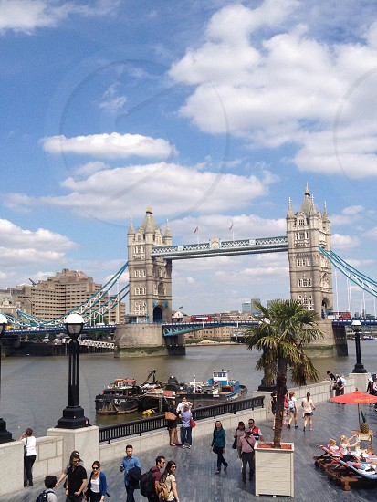 Tower bridge city summer photo