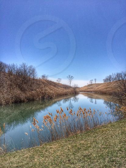 Landscape nature spring vanishing point photo