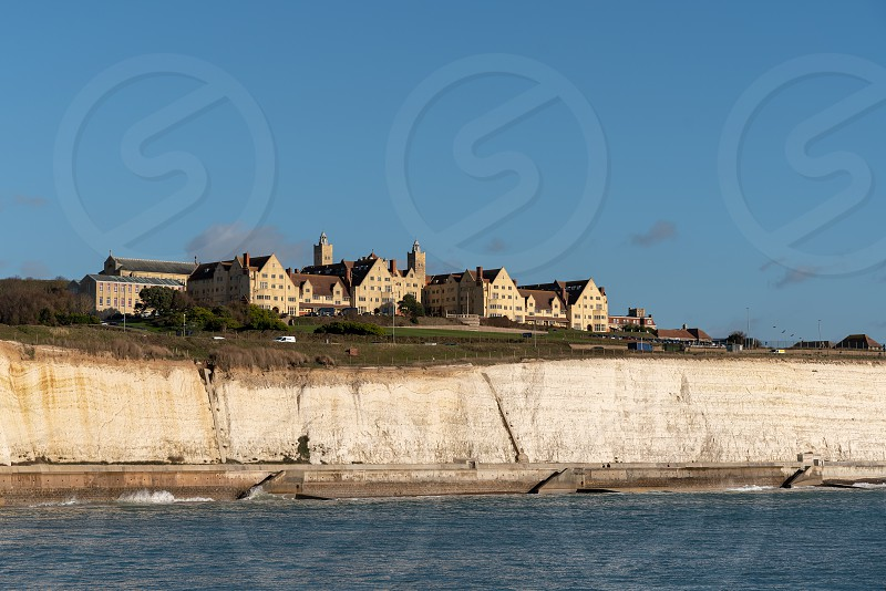 BRIGHTON EAST SUSSEX/UK - JANUARY 8 : View of Roedean School near Brighton on January 8 2019. Three unidentified people photo