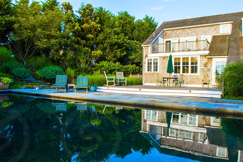 pool backyard landscape patio deck porch photo