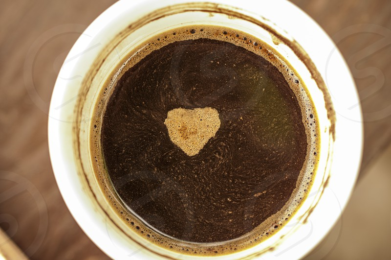 Positive Emotion Coffee Cup Coffee - Drink Heart Shape Love Cup Coffee Break Chance A Rarity Brown Emotion photo