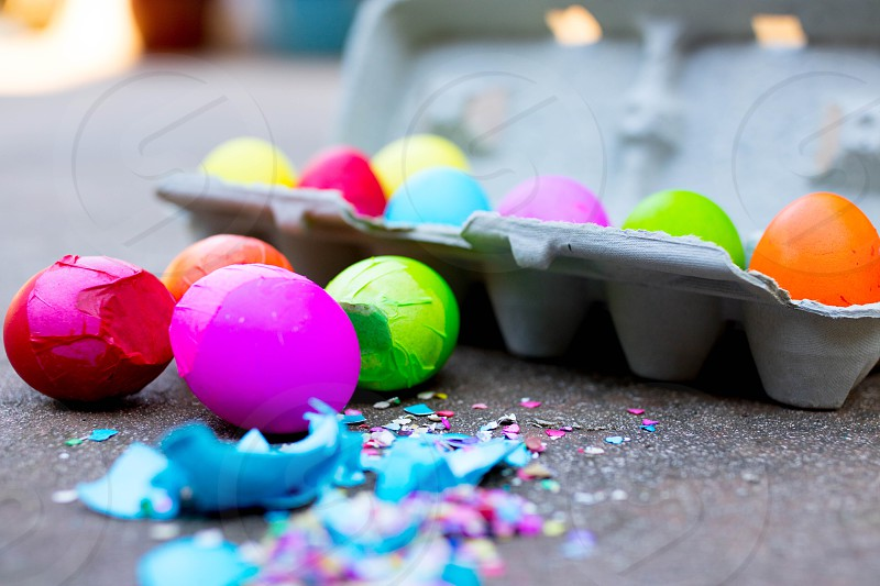 Easter hoppy Easter cascarones eggs confetti eggs photo