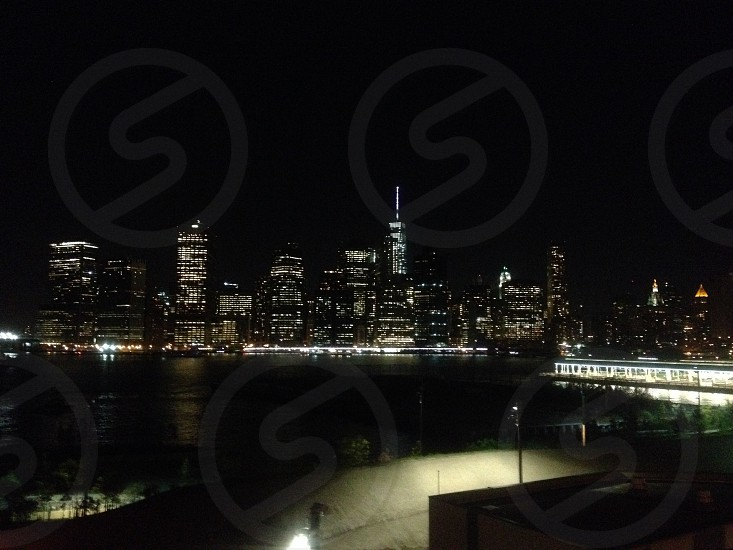 Manhattan skyline from Brooklyn Bridge Park. October 2014. photo