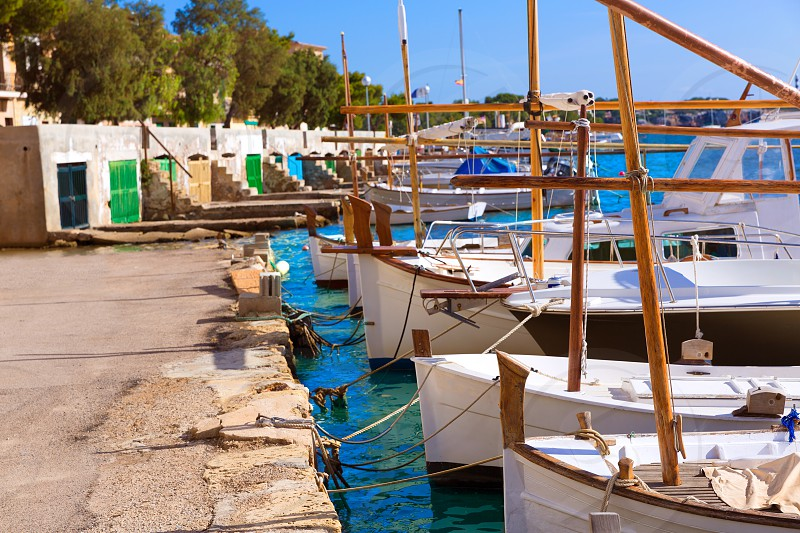 Majorca Porto Colom Felanitx port in mallorca Balearic island of Spain photo