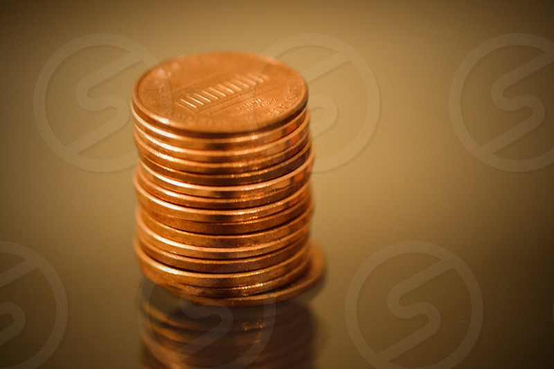 piled golden coins photo