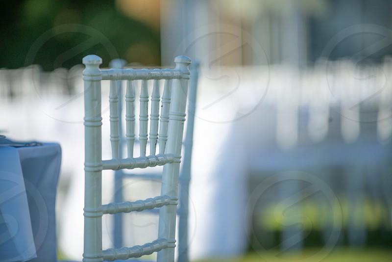 white chiavari Chairs photo
