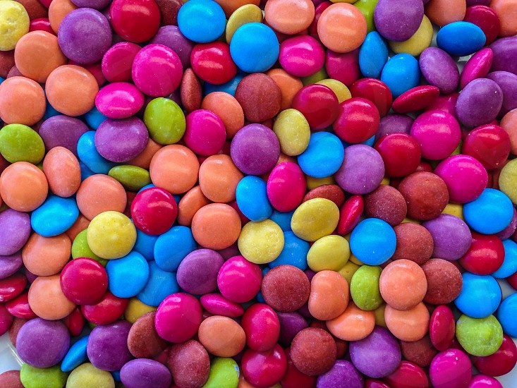 Diversity confectionery sweets colors photo