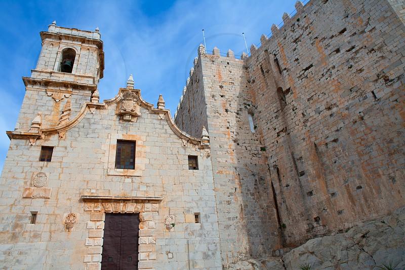 Peniscola virgen de Santa Maria church facade Castellon Spain photo