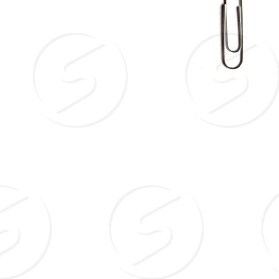 silver paper clip photo
