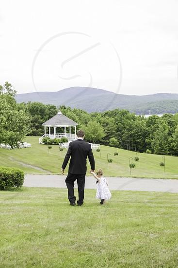 Father & Daughter before the wedding Lucerne Inn Dedham Maine Summer 2014 photo