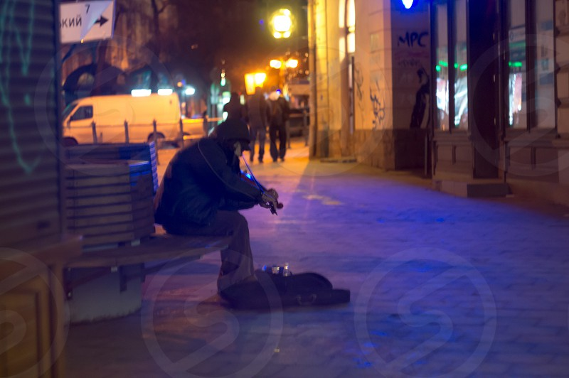night street musician photo