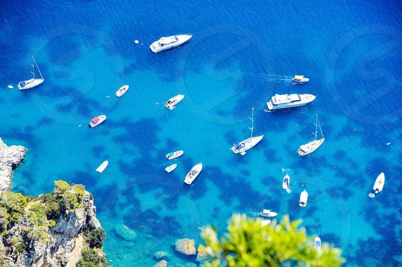 Amalfi coast boats vacation Italy summer travel  photo