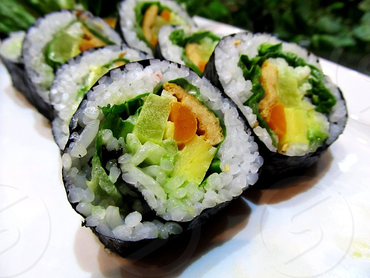 Sushi vegetable maki photo