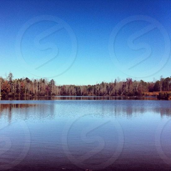 Calm lake.  photo