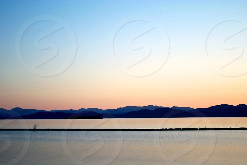 Sunset in Burlington VT photo