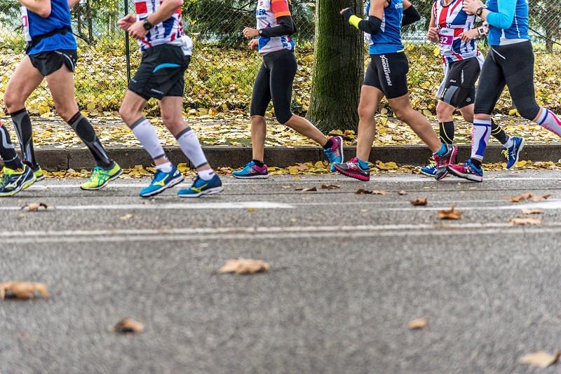 Marathon runners photo
