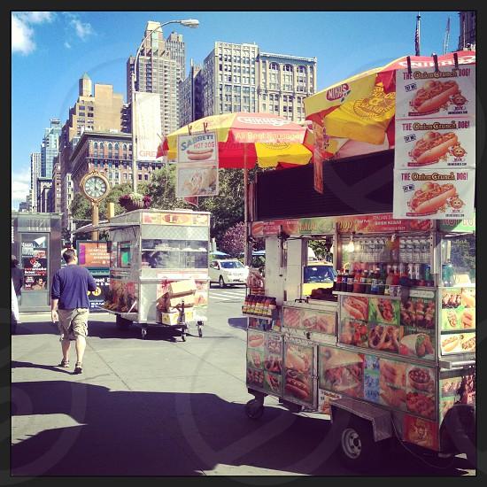 New York City street view Manhattan streetfood photo