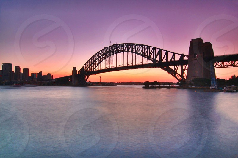Dusk Sydney Harbour Bridge photo