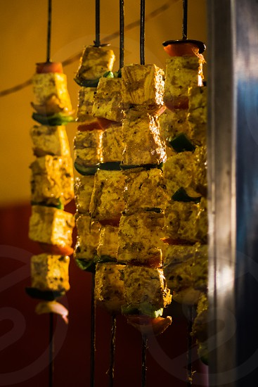 Paneer Tikka a very common street food ready to cook photo