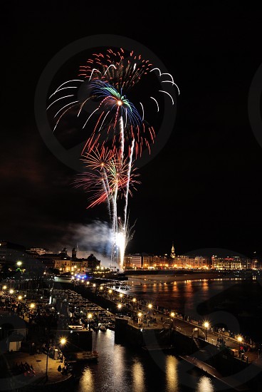 fireworks display during daytime photo