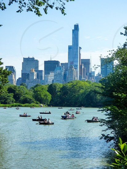Central Park New York City Boats summertime  photo