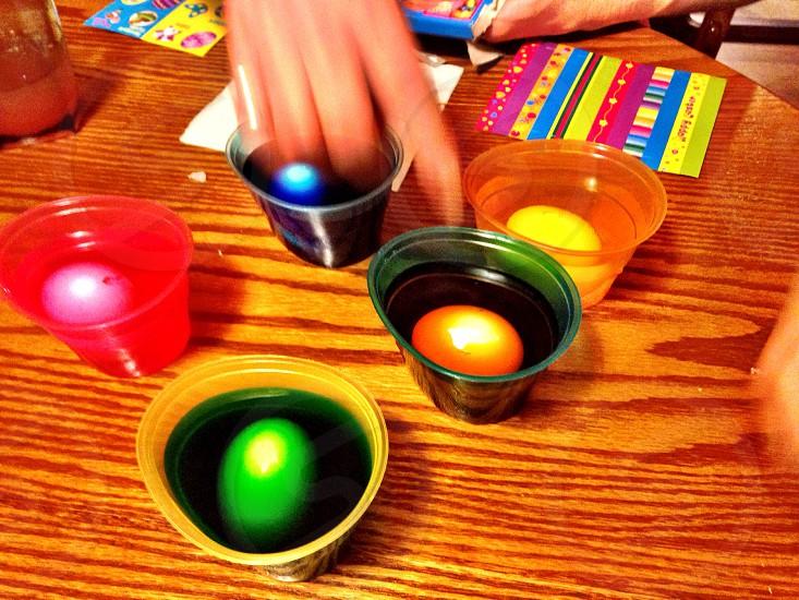 multicolored easter eggs photo