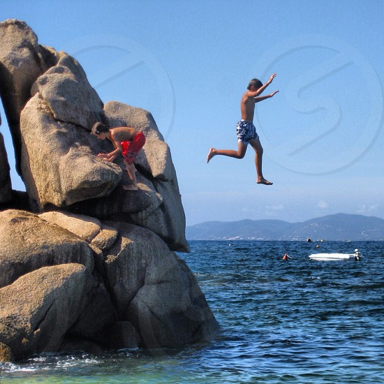 Children enjoying summer  photo