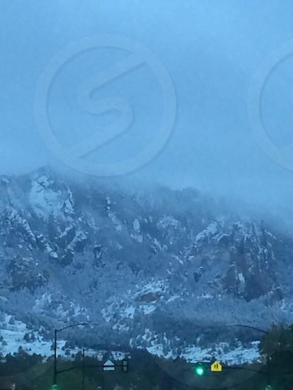 Foggy Rocky Mountains photo