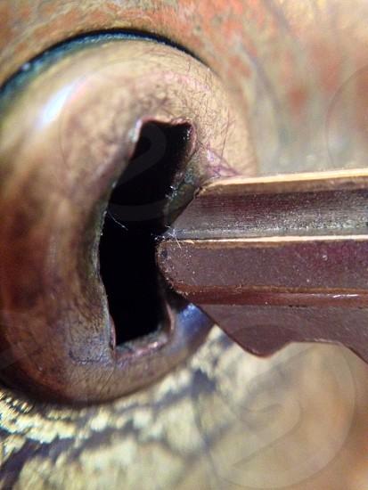 key near key hole photo
