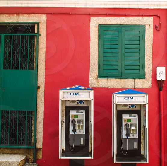CTM white blue black telephone booths photo