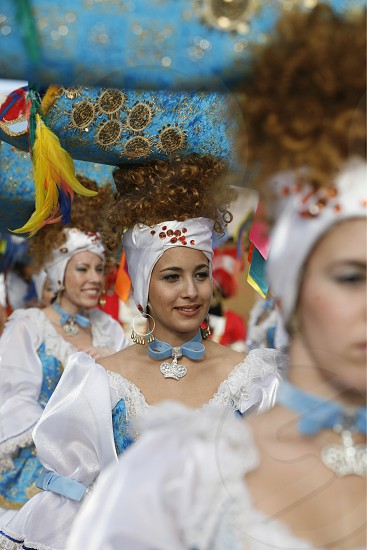 The Carneval in the Town of Tacoronte on the Island of Tenerife on the Islands of Canary Islands of Spain in the Atlantic.   photo