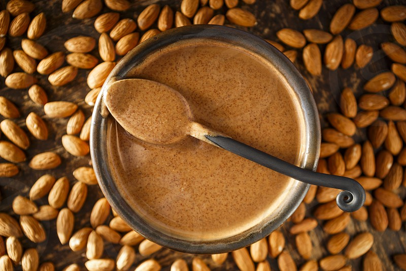 Almond Butter and Raw Almonds photo
