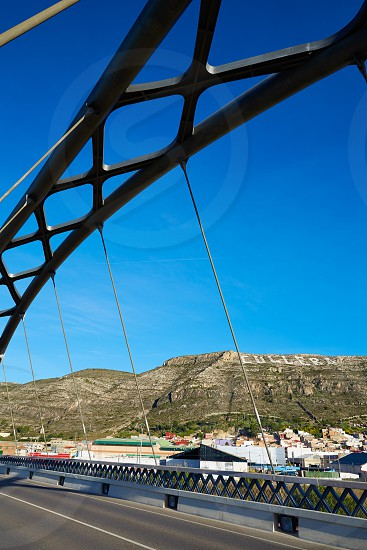 Cullera bridge over Xuquer Jucar river of Valencia at Spain photo