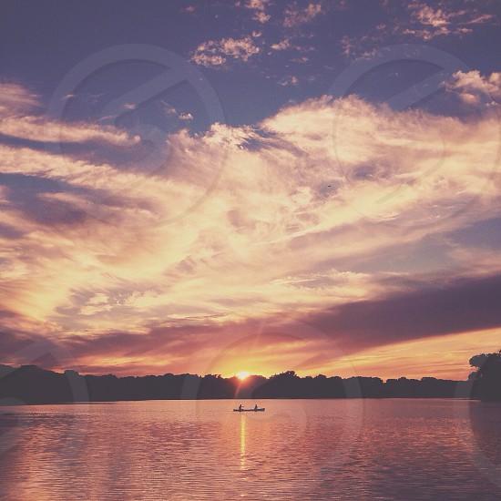 blue sky horizon view photo