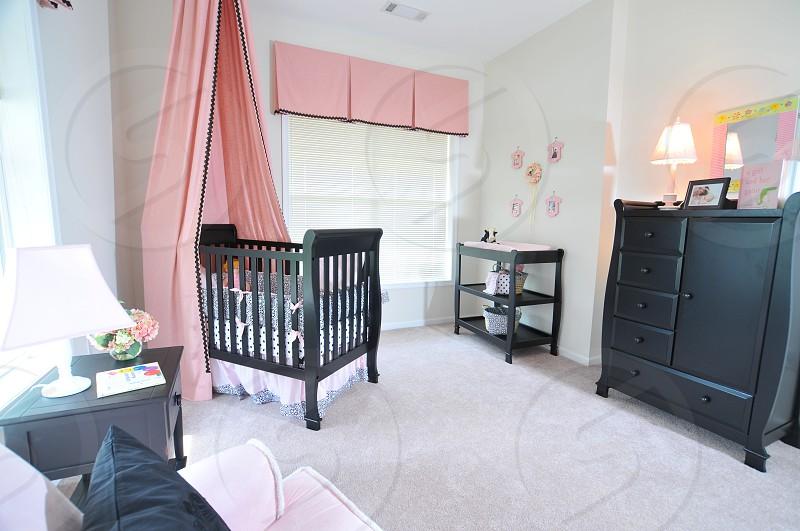 Contemporary baby nursery photo